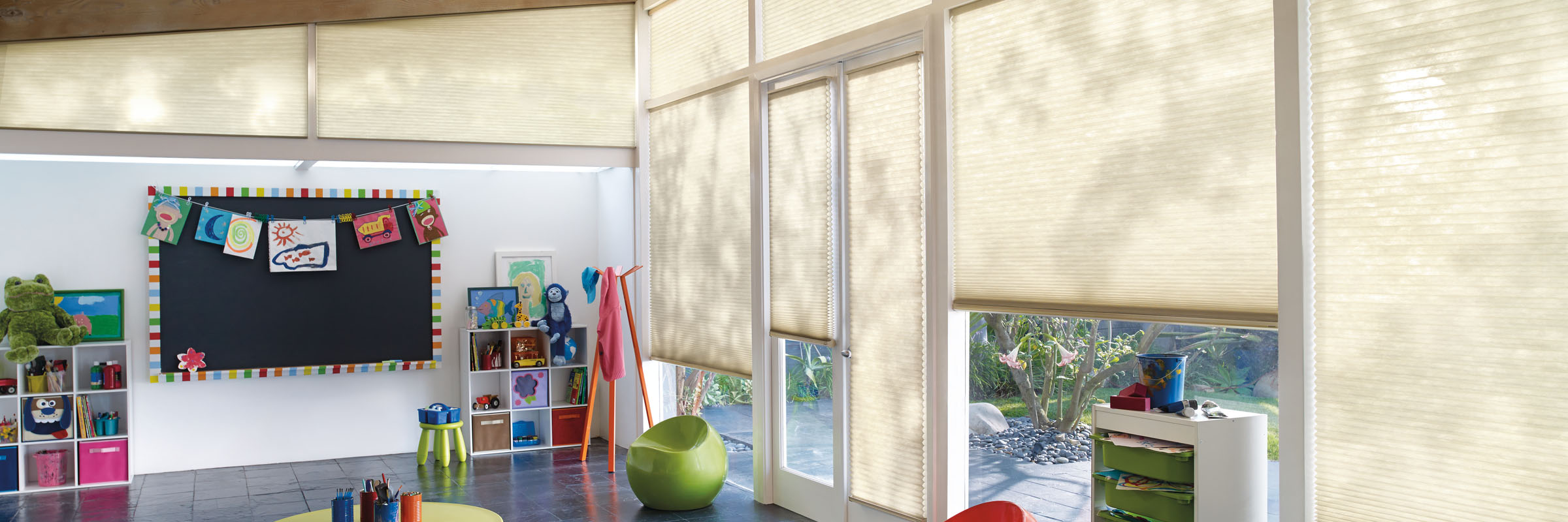 Cellular blinds in LifeScape Sand Swept - Applause