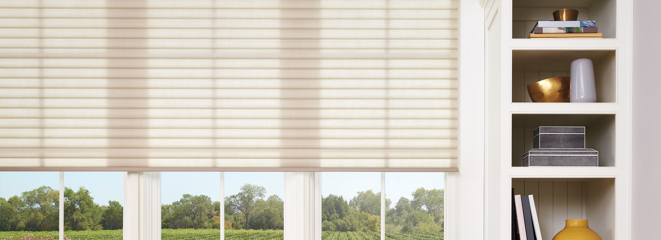 Cellular roller shades in Elan® Burlap - Sonnette