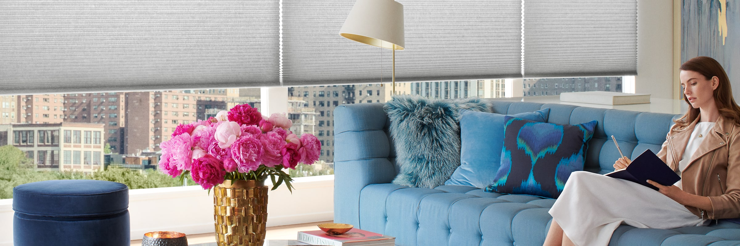 Duette Cellular shades in Architella Calypso Swell