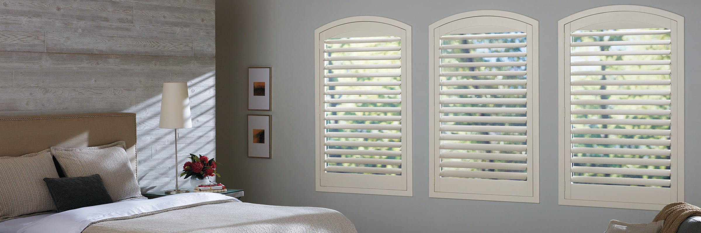 Custom shutters in Hybrid Swiss Cream - NewStyle