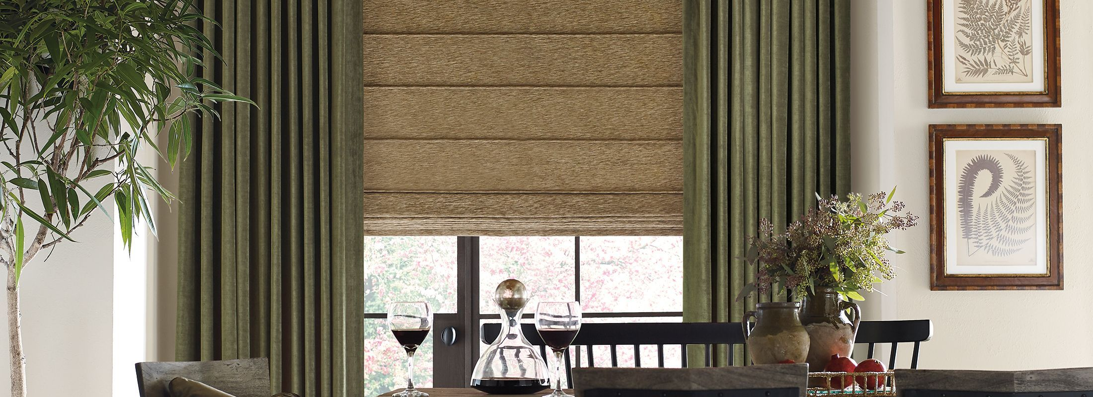 Design Studio Roman Shades in Cordero Keyline