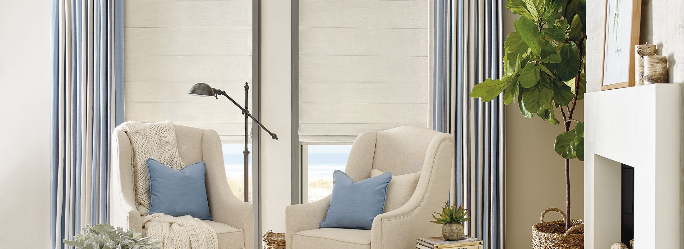 Design Studio Roman Shades in Spencer Pebble