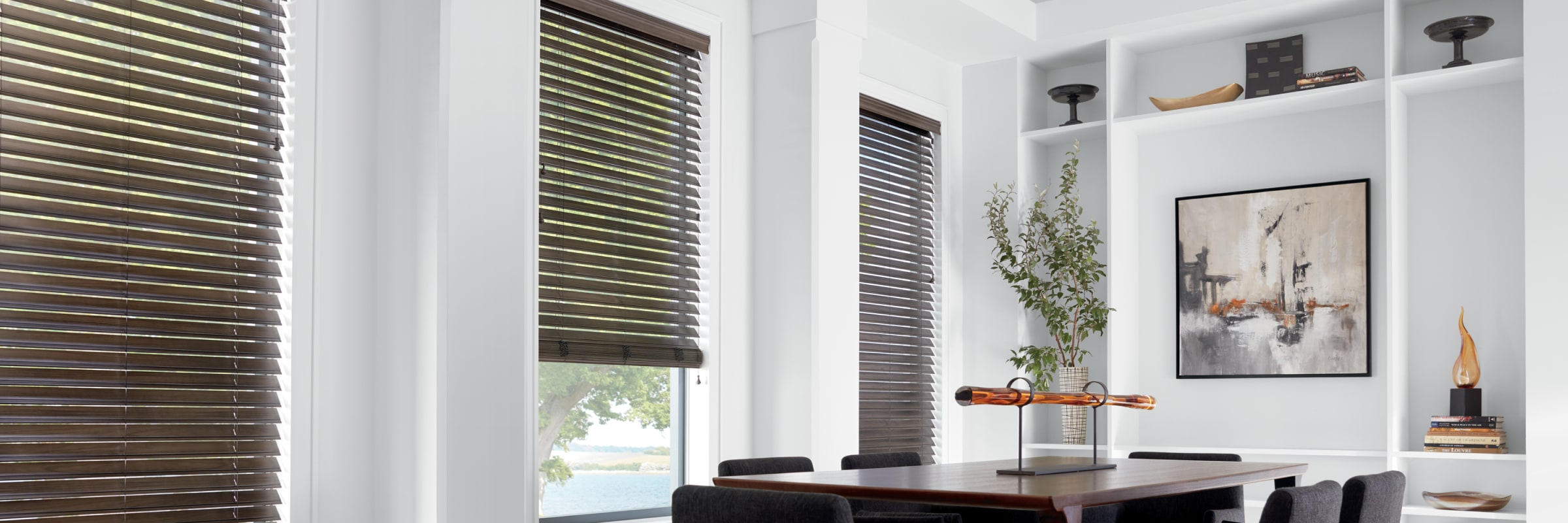 Alternative wood blinds in Patina Alternative Wood Chateau - EverWood