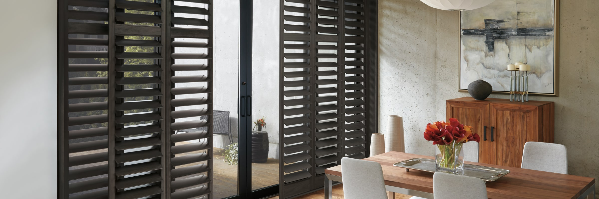 Hybrid interior shutters in Hybrid Urban Grey - NewStyle