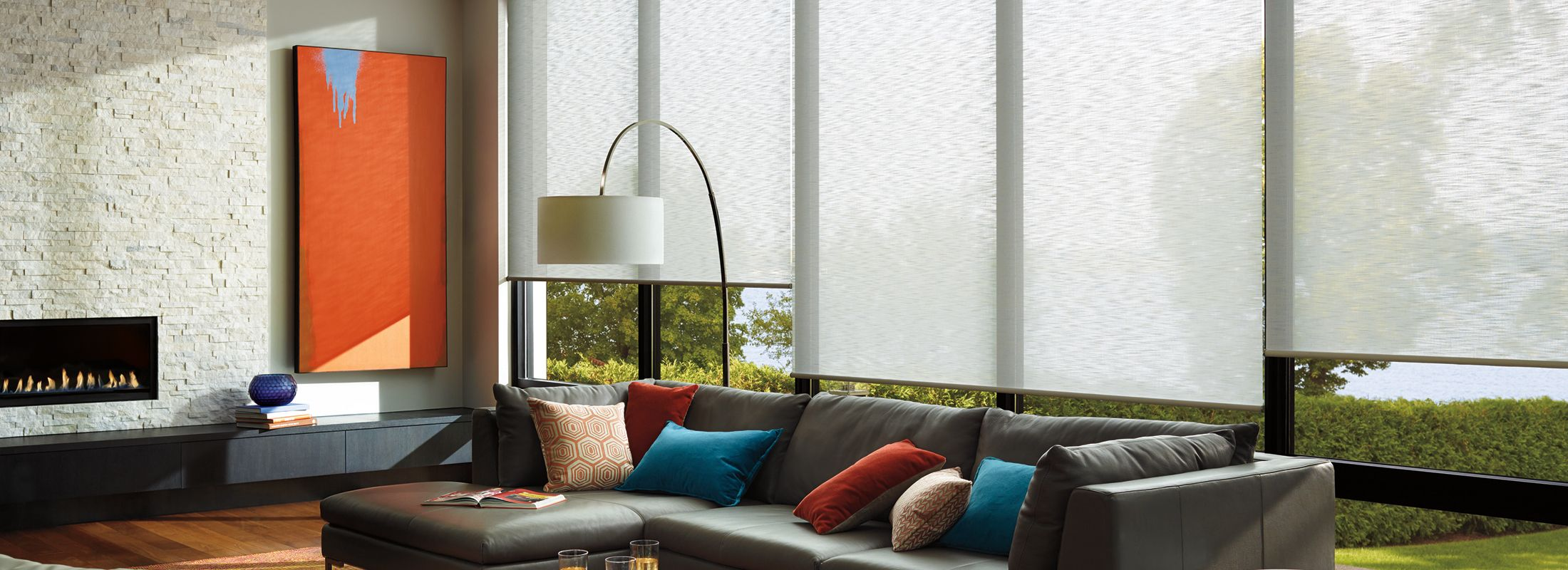 Light filtering fabrics in Retreat Pure - Alustra Woven Textures