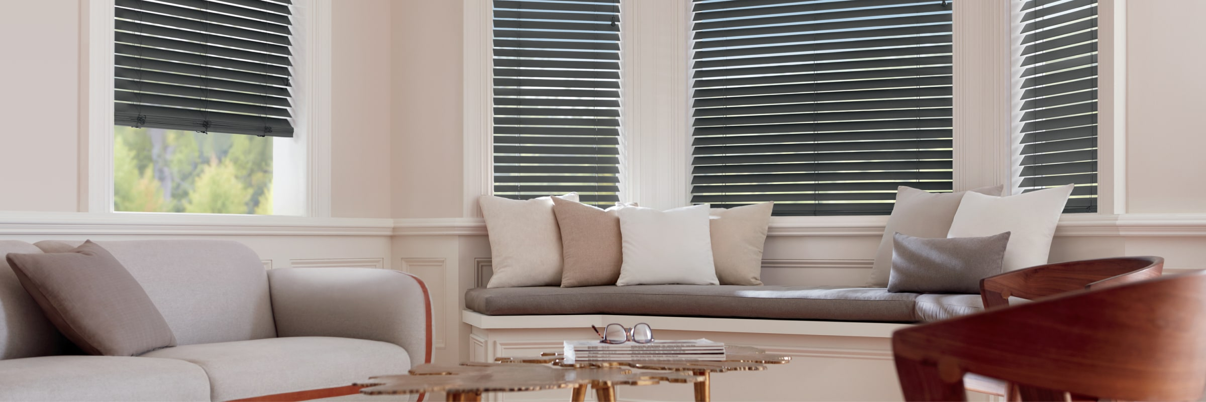Wooden blinds in Matte Basswood Nightingale - Parkland