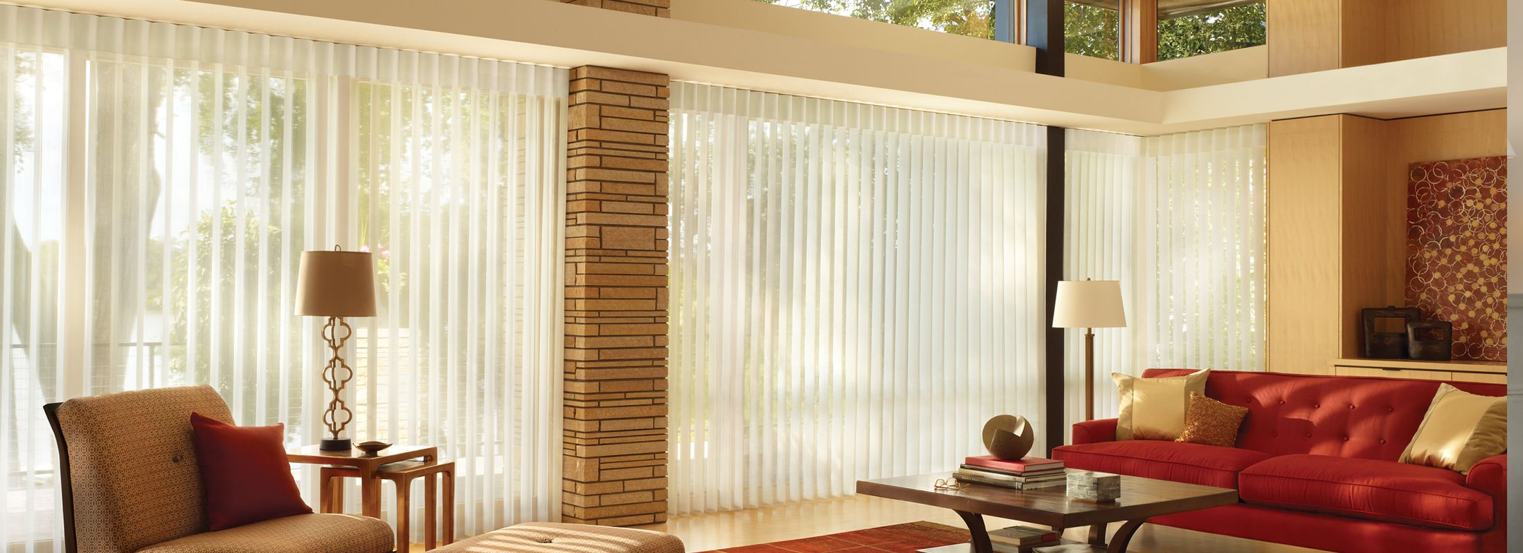 Privacy blinds in Stria Harmony - Luminette