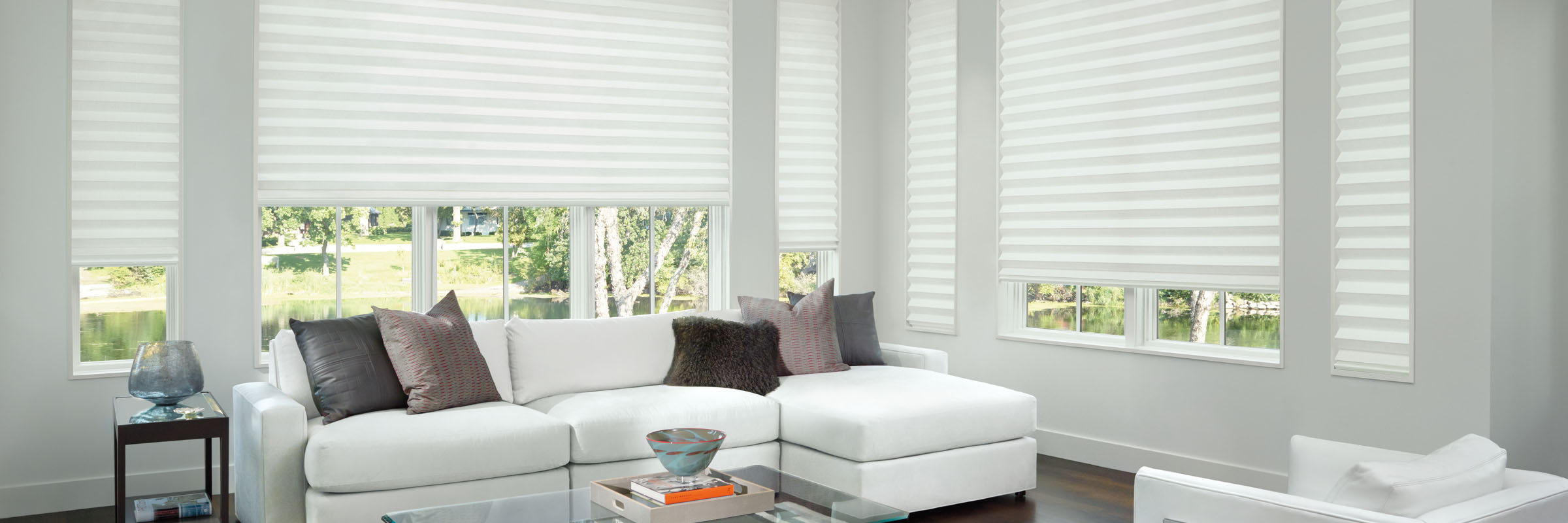 Soft window treatments in Layla December White - Solera