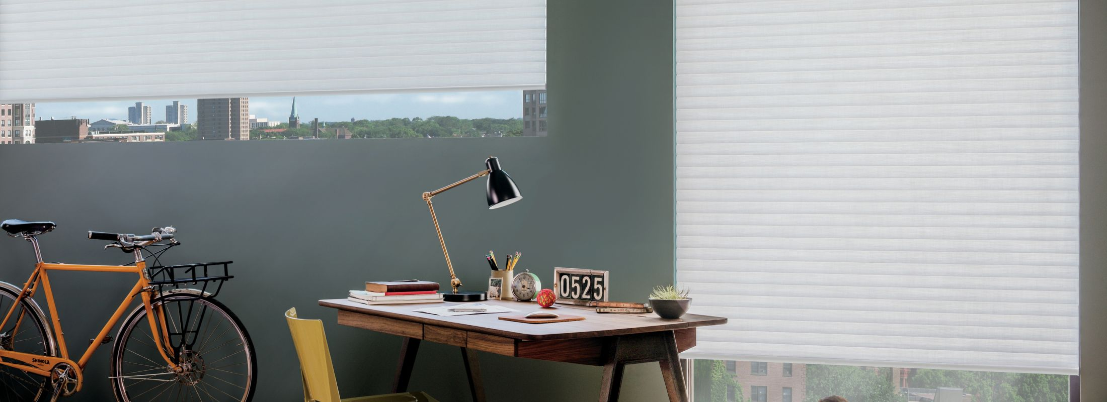 Cellular roller shades in Elan® Daisy White - Sonnette