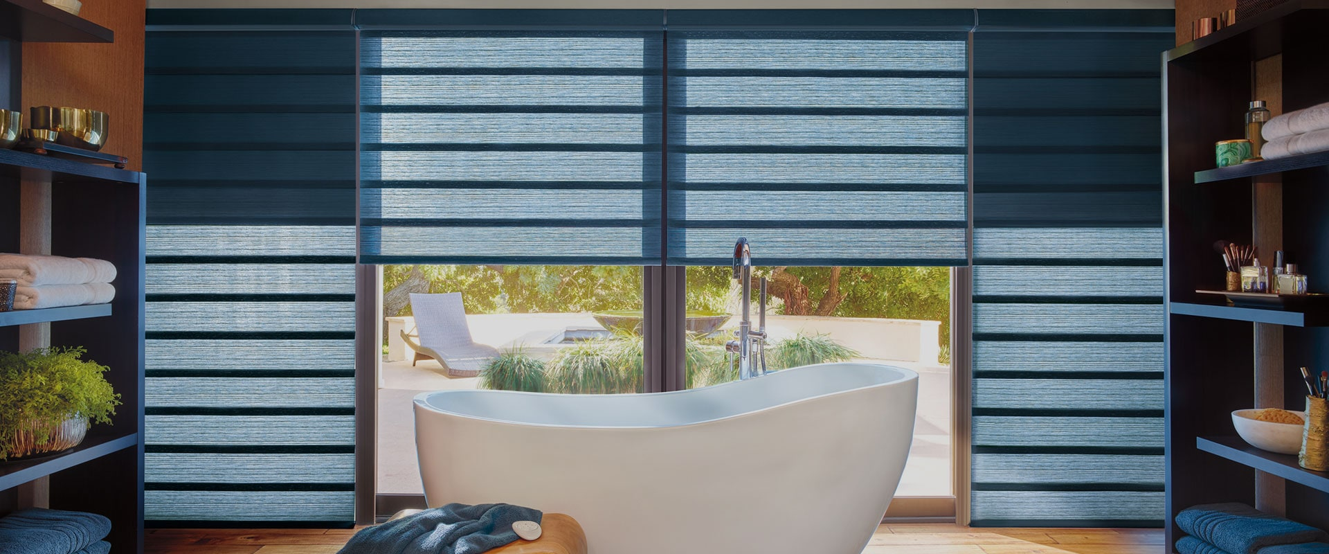 Bathroom with Roman Shades - Vignette Duolite