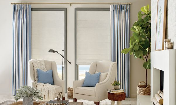 Design Studio Side Panels with Roman Shades