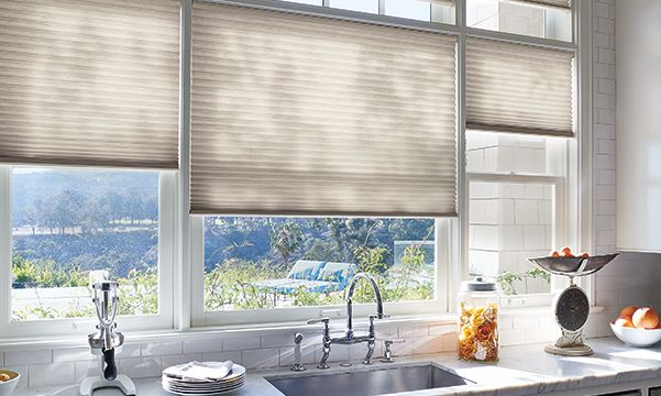 Duette Honeycomb Shades in Kitchen