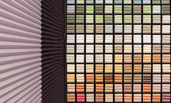 Hunter Douglas Architectural Digest show color wall display