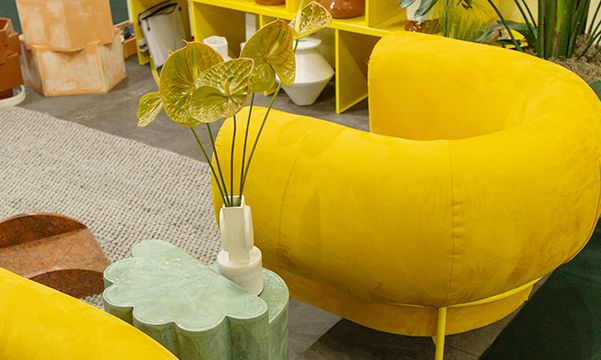 Michael Felix yellow armchairs
