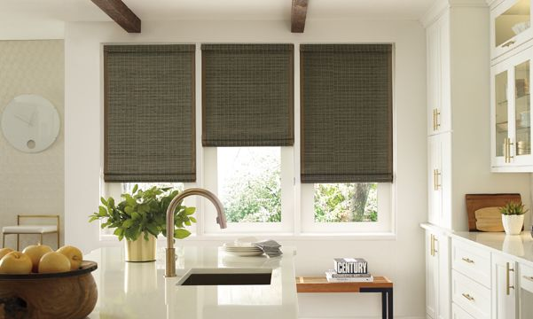 Provenance Woven Wood Shades in Kitchen