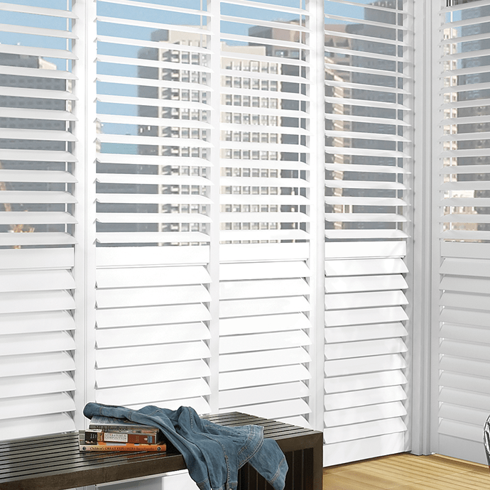 Custom Shutters with city view