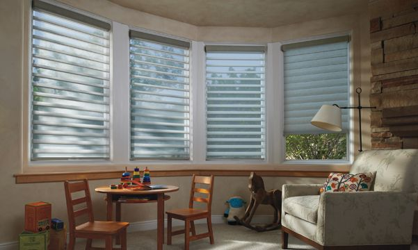 Silhouette window shadings in kids room