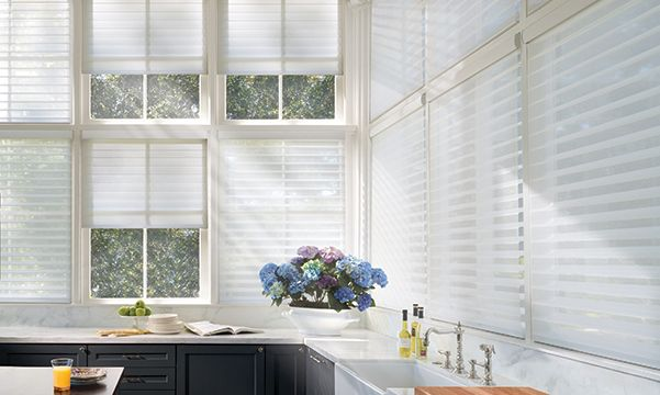 Silhouette Window Shadings in Kitchen