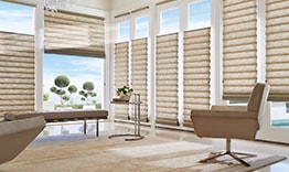 Vignette Modern Roman Shades in Living Room