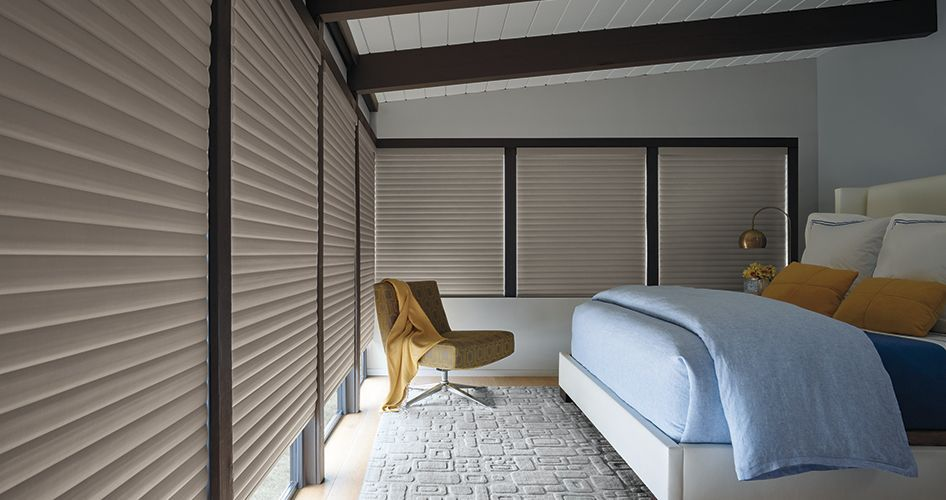 Top Bedroom Window Treatment Ideas | Hunter Douglas on ideas for kitchen window coverings, bay window curtain treatments, ideas for kitchen curtains,