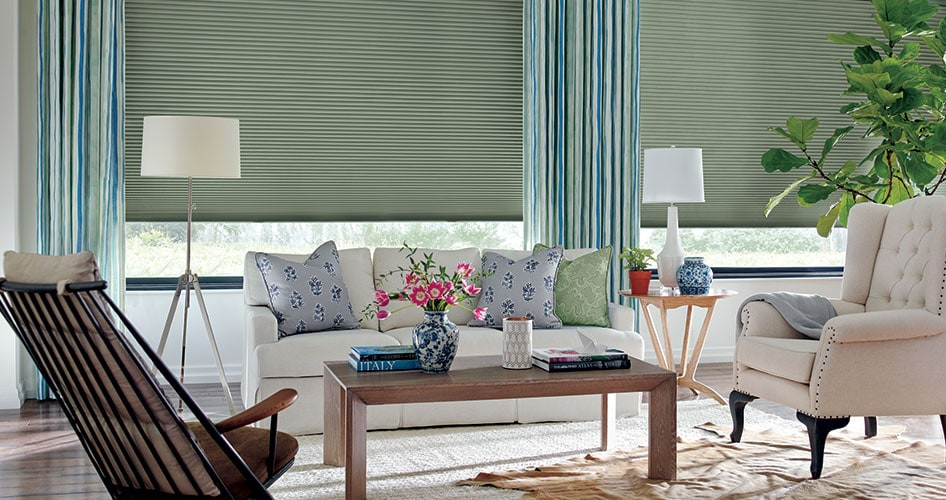 window treatments in living room