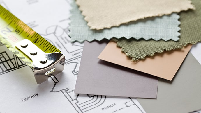 Tape measure and swatches