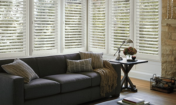 Palm Beach Polysatin Shutters in Living Room