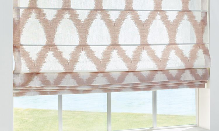 Different styles of roman shades - Batten Front - Design Studio