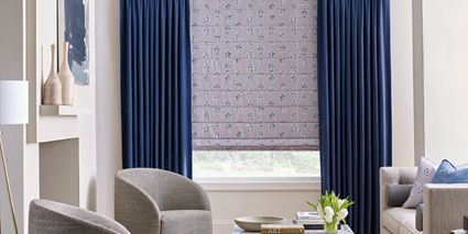 Design Studio Roman Shades with Design Studio Side Panels