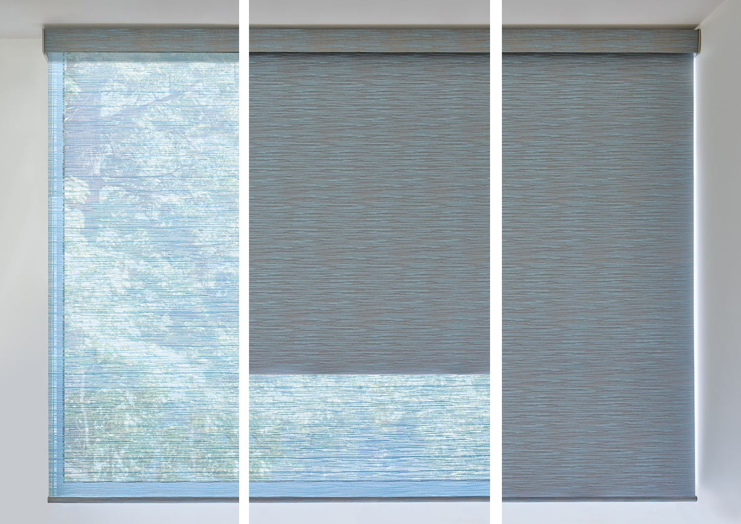Designer Roller Shades with Duolite.