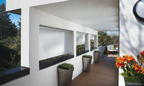 outside view of window shades
