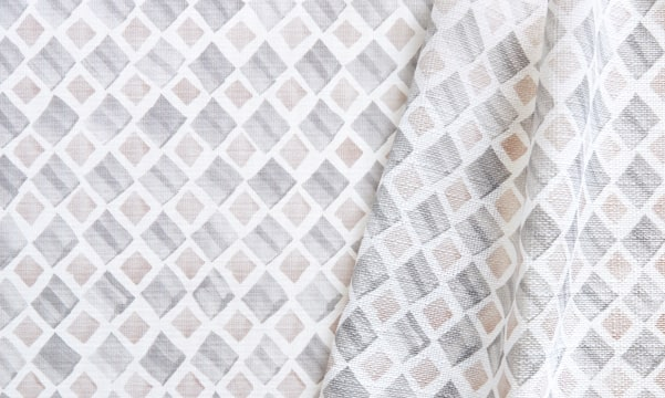 Fabric Swatch - Diamond Geo in Gray/Taupe