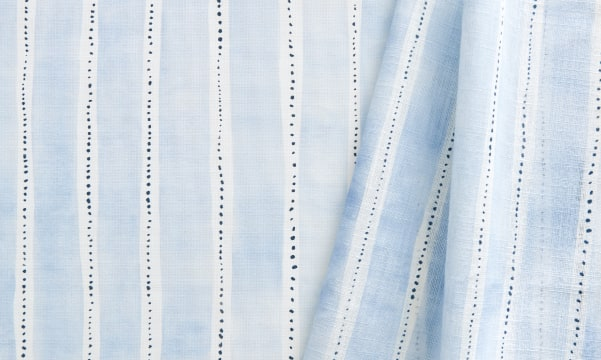 Fabric Swatch - Dotted Stripe in Ice Blues