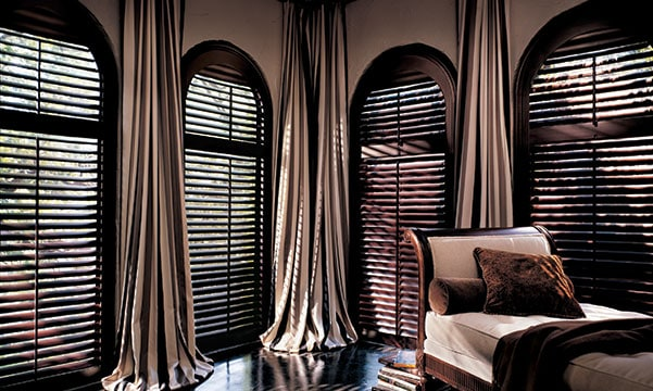 drapery on arched windows