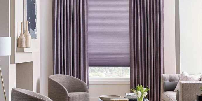 cellular shades with Design Studio side panels