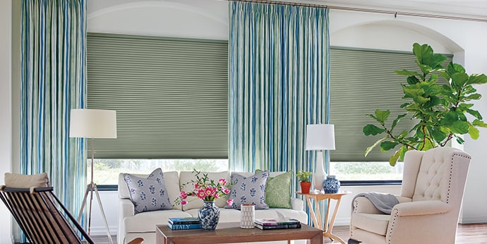 Duette Honeycomb Shades with Design Studio Side Panels