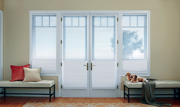 duette shades on french doors