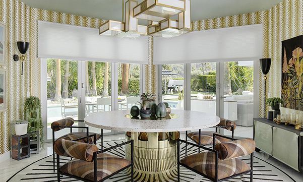 Duette Honeycomb Shades in the Christopher Kennedy Compound at Modernism Week 2019