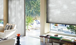 Duette Honeycomb Shades on Sliding Glass Door