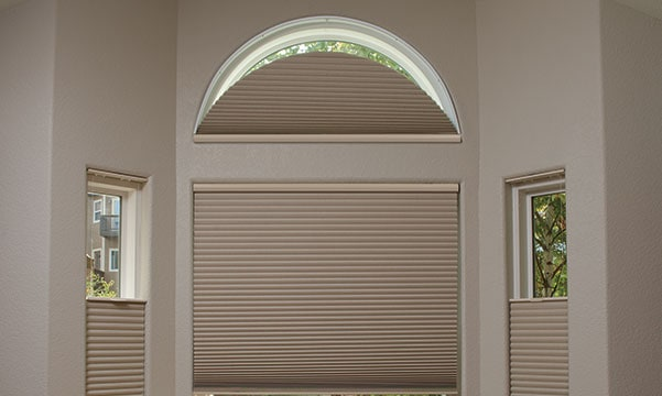 duette shades on arched windows
