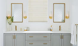 EverWood Alternative Wood Blinds in Bathroom