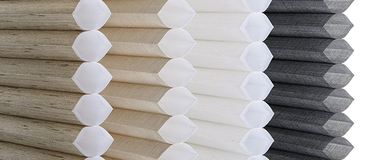 Several Duette Honeycomb Shades Fabric Options