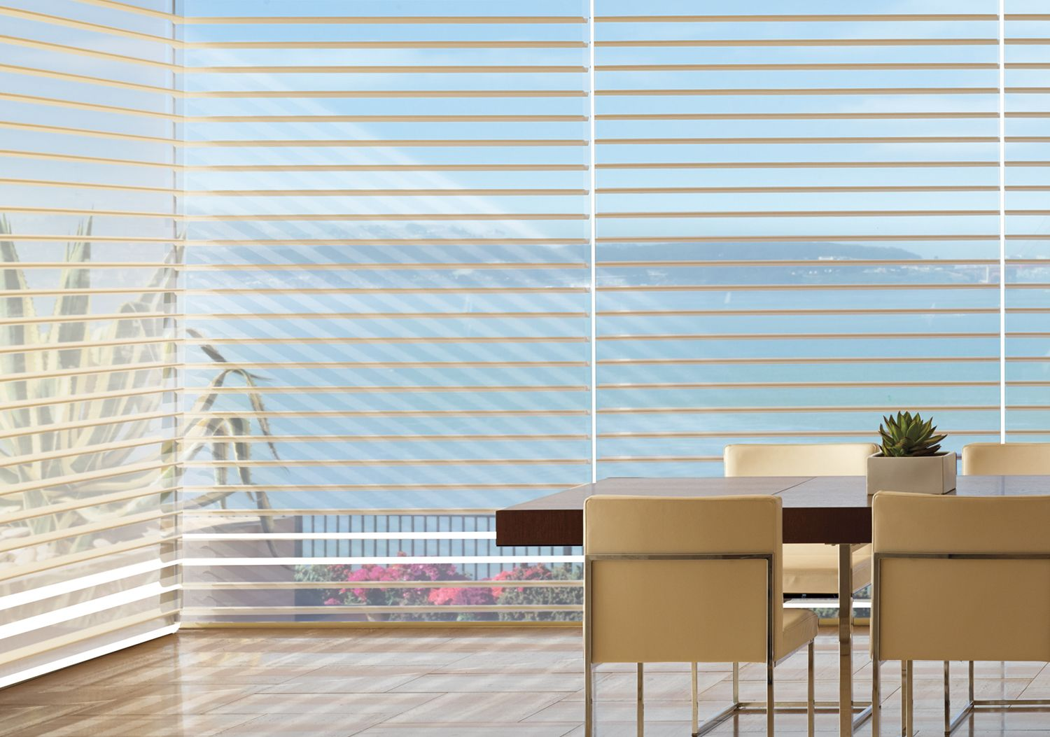 Silhouette Window Shadings in dining room