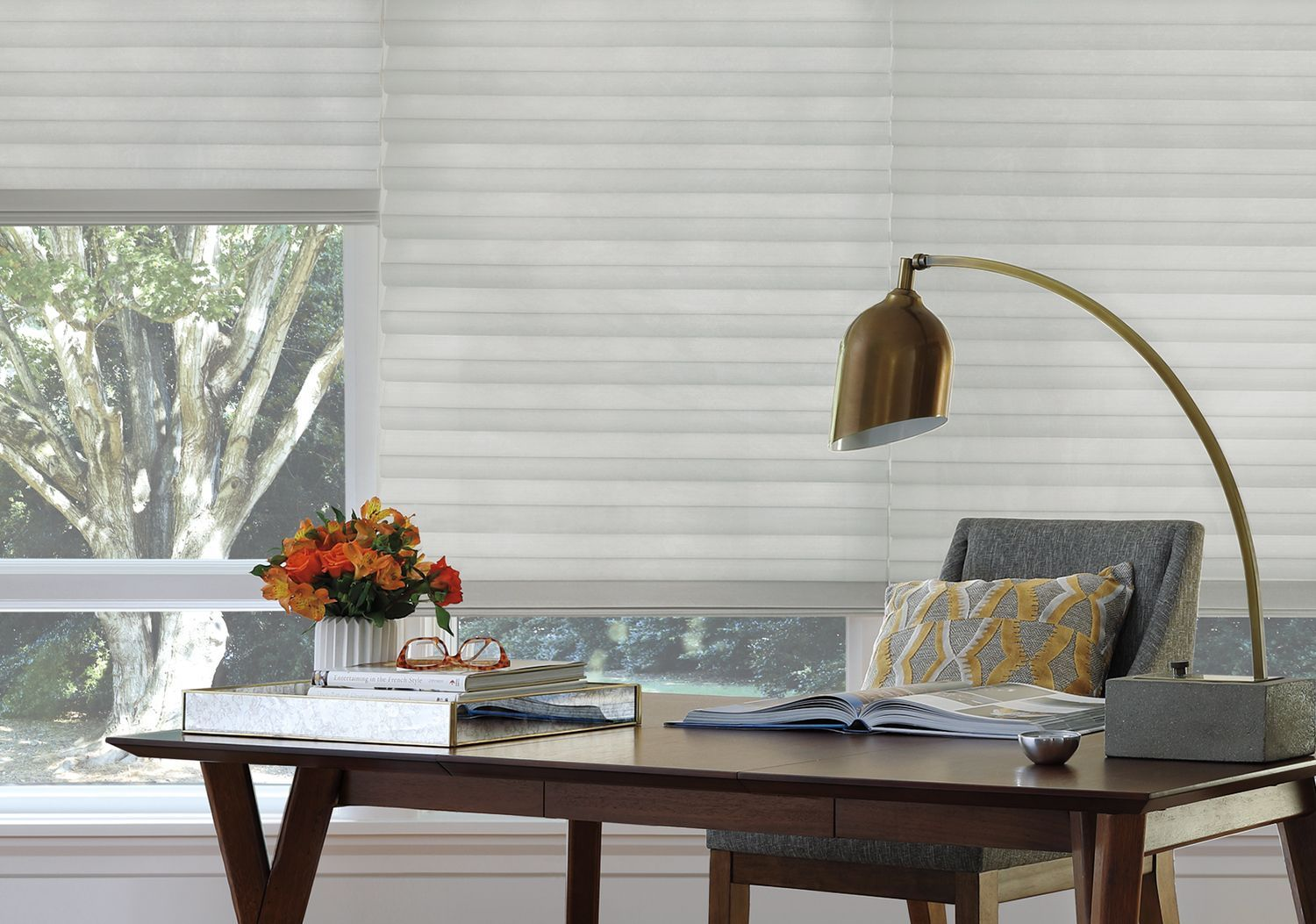 Solera Soft Shades in home office