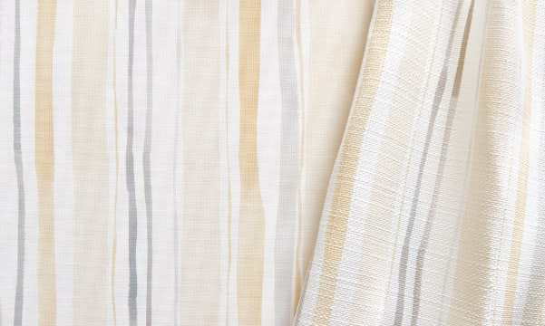 Fabric Swatch - Garden Stripe in Butter/Gray