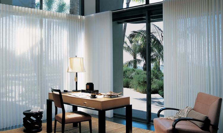 Glass door window treatments  - Luminette