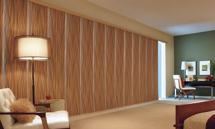 Window treatments for patio sliding glass doors hunter douglas glass door window treatments skyline planetlyrics Images