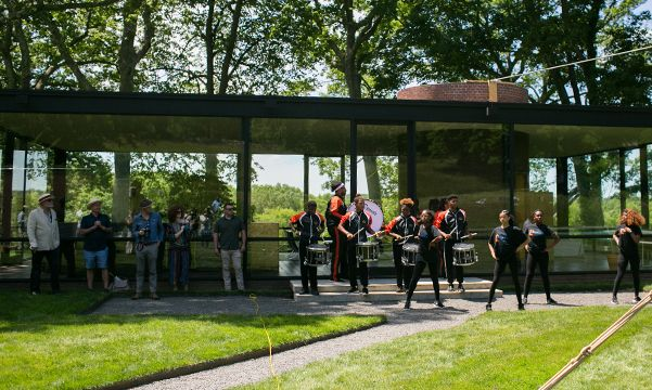 Marching band at Glass House event