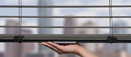 Metal blinds in Reveal Aluminum Slate - Modern Precious Metals