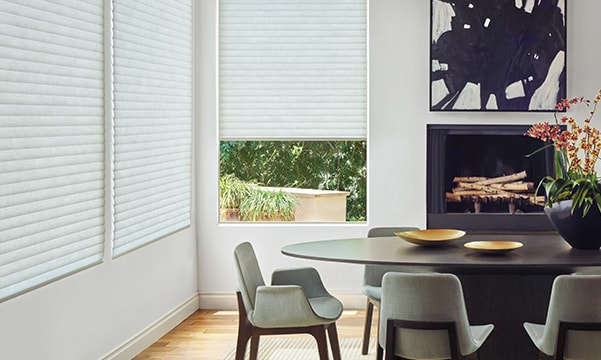 Insulated shades in dining room